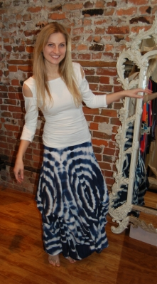 Luna Luz blue and white skirt